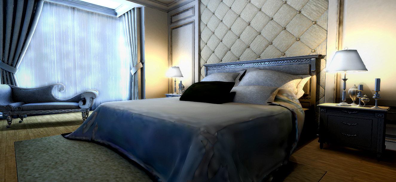 The Master Bedroom is a feast for the eyes.