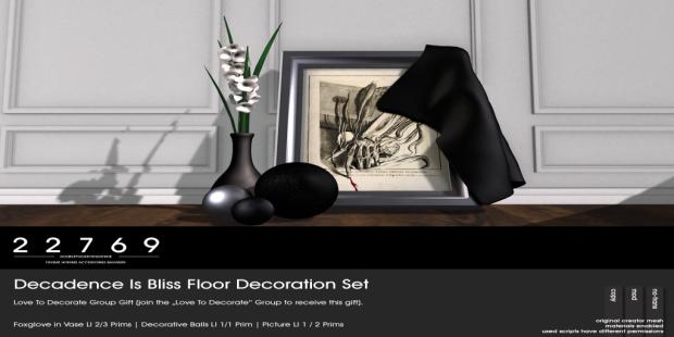 22769 ~ [bauwerk] LTD Group Gift_ DIB Floor Decoration
