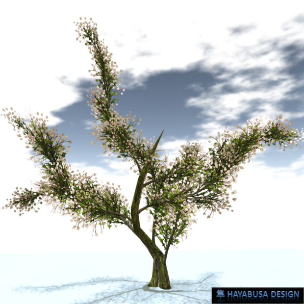 Hayabusa Design Elegant Tree with Wind- with Life - 1
