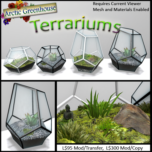 New@Arctic Greenhouse - Terrariums!