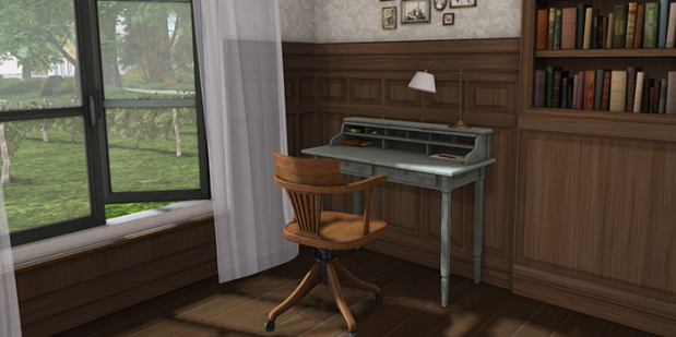 Writing desk with chair700