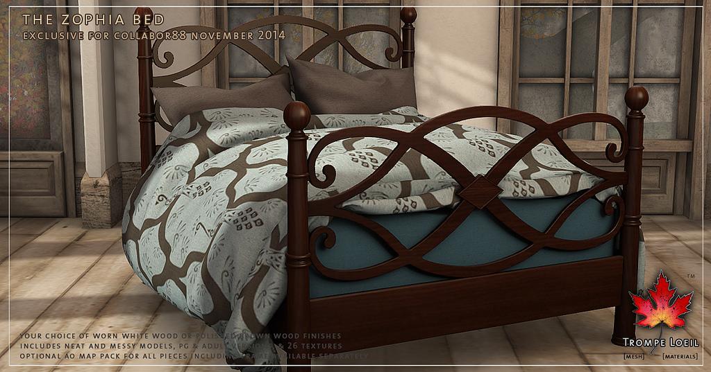 Trompe l oeil the zophia bed love to decorate sl - Trompe loeil hoofd bed ...