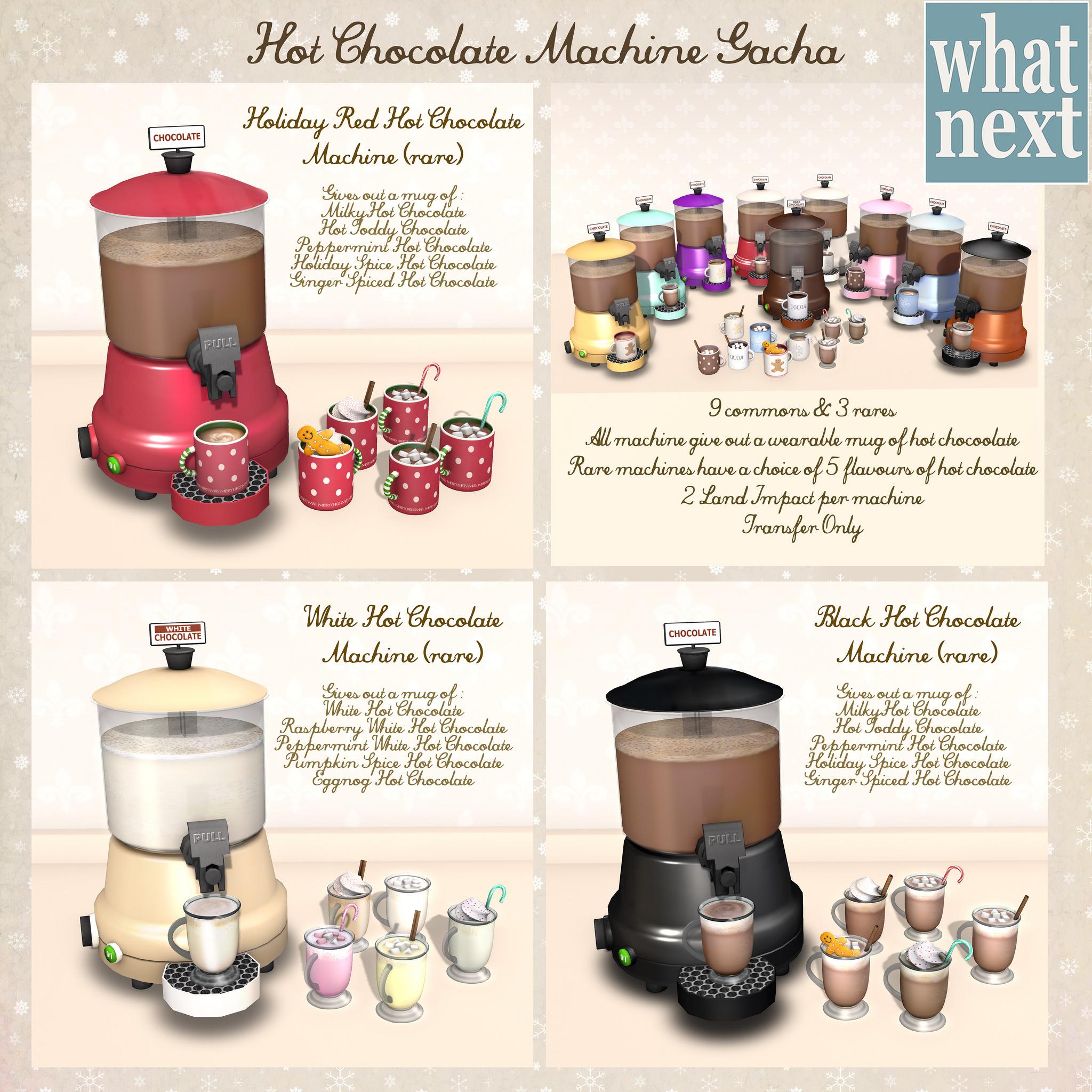 What Next – Hot Chocolate Machine Gacha | Love to Decorate SL