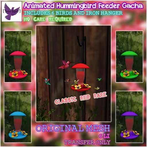 [ free bird ] animated hummingbird gacha
