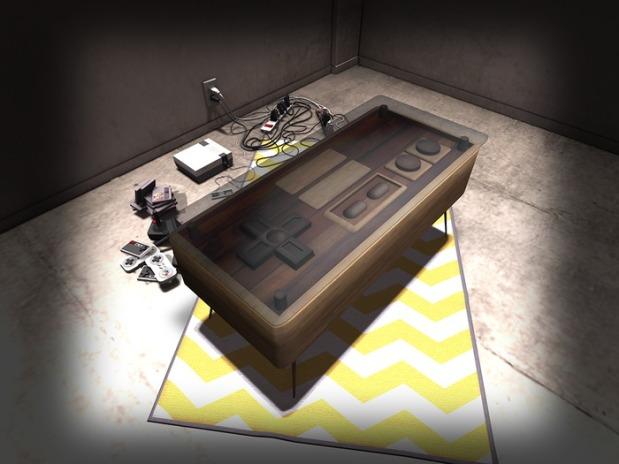 TH Retrogaming coffee table WOOD