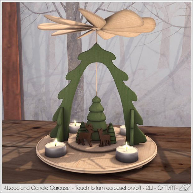 Alouette - woodland candle carousel