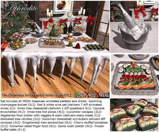Aphrodite - christmas buffet salad table