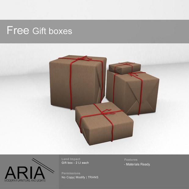 Aria free gift boxes