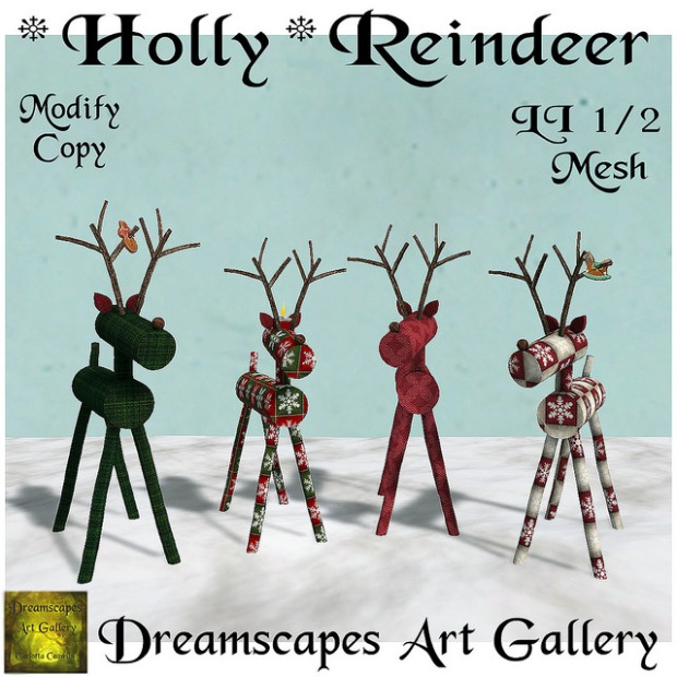 Dreamscapes Art Gallery - Holly Reindeer