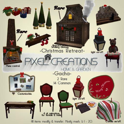 Pixel Creations - Christmas Retreat gacha