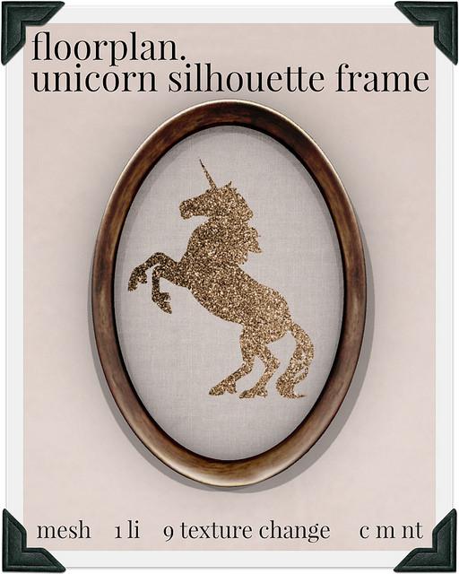 floorplan unicorn silhouette frame