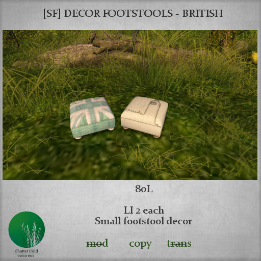 shutterfield - decor footstools British LOTW