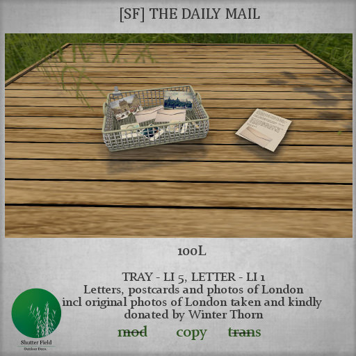 shutterfield - the daily mail LOTW