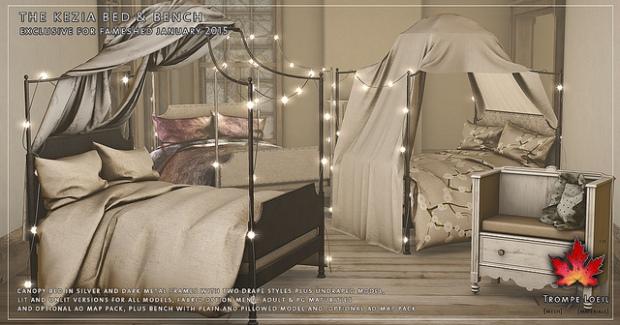 Trompe loeil kezia bed love to decorate sl - Trompe loeil hoofd bed ...