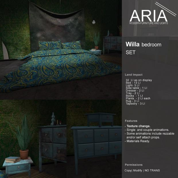 Aria Willa bedroom set UBER
