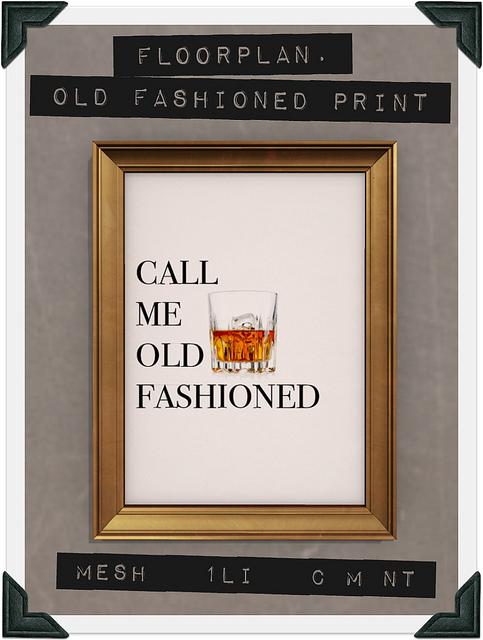 floorplan flf old fashioned print