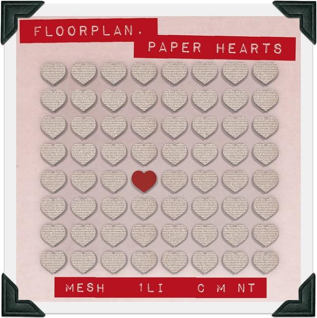 fLOORPLAN FLF PAPER HEARTS