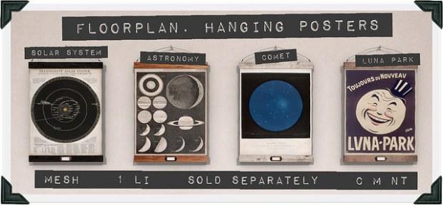 Floorplan - hanging posters SS