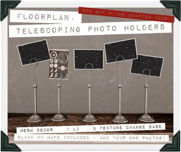 Floorplan - telescoping photo holders Chapter 4