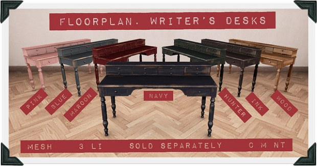 Floorplan - writers desks SS