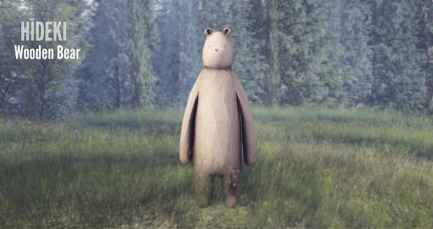 Hideki wooden bear FLF