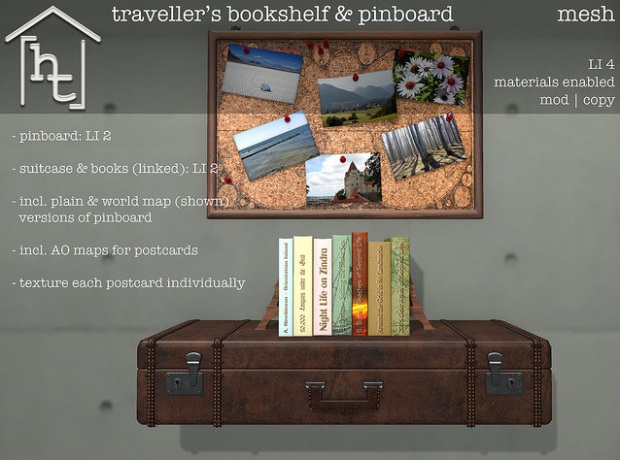 HT Home - Travellers bookshelf pinboard