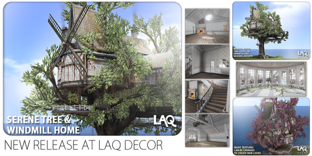 LAQ Decor ~ Serene Tree & Windmill Home