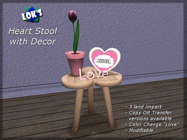 LOKS heartstool with decor