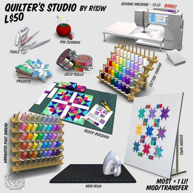 R(S)W Quilters Studio gacha ARCADE