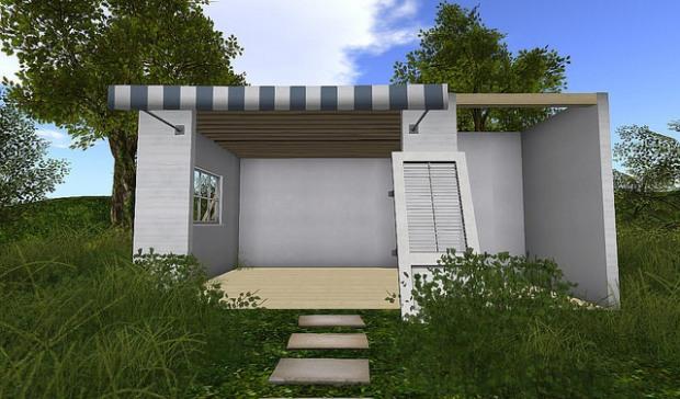 Shutter Field - unfinished shack