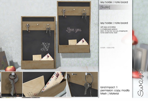 Sways - suzie key holder note board - FLF