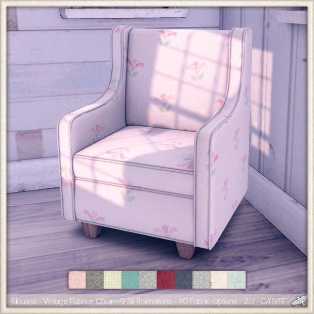 Alouette - vintage fabrics chair