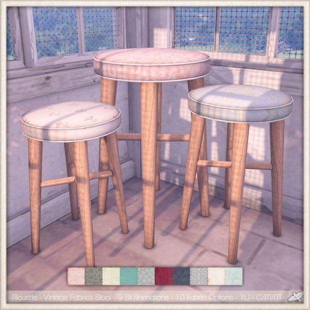 Alouette - vintage fabrics stools