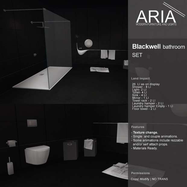 Aria - Blackwell bathroom set - Fameshed