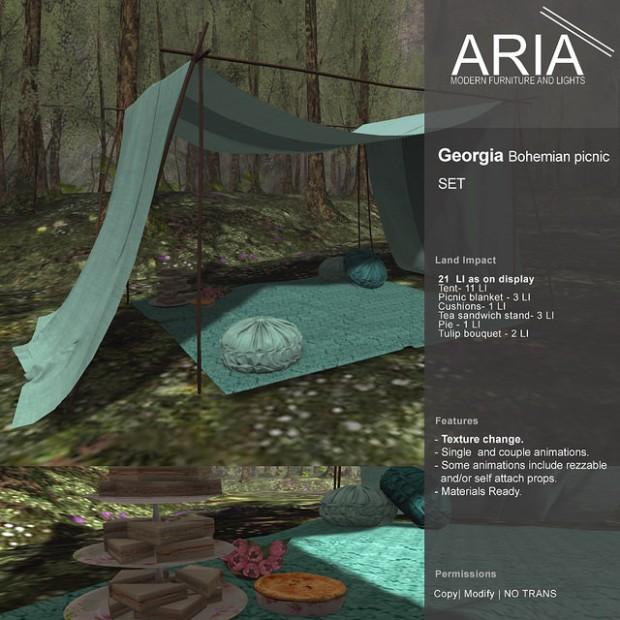 ARIA - Georgia Boho picnic set - Shiny Shabby