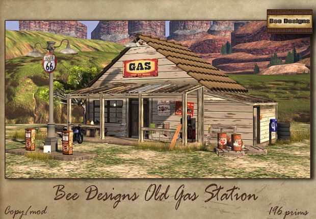 Bee Designs - old gas station 1