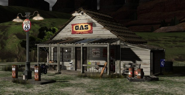 Bee Designs - old gas station 2