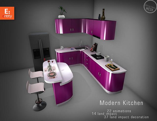 entity modern kitchen pink - Violet Kitchen 2015