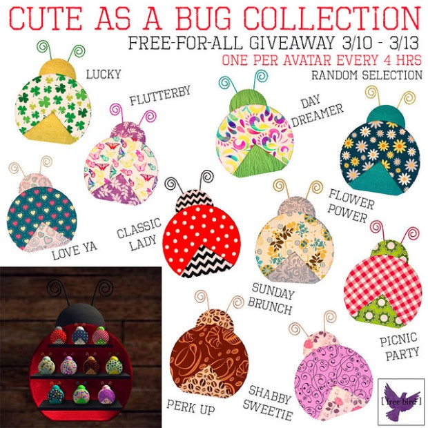 [free bird] bug collection
