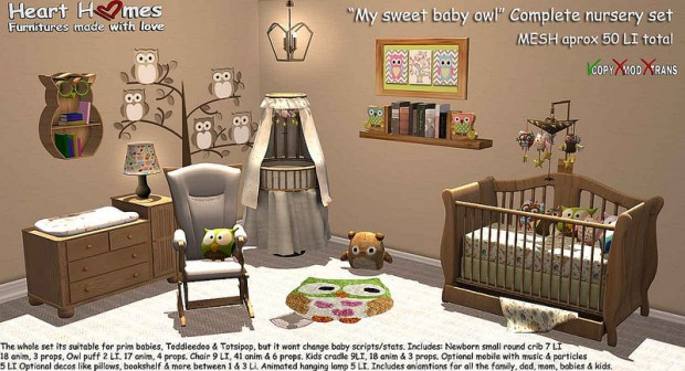 Heart Homes - complete nursery set