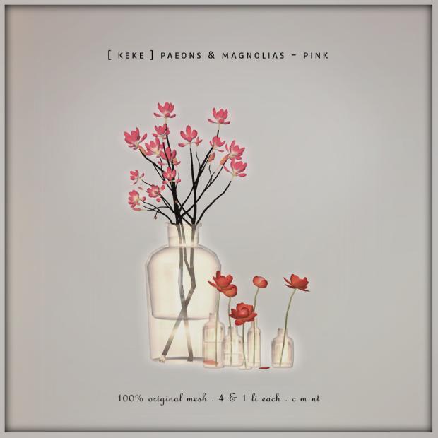 [ Keke ] Paeons & Magnolias - Pink