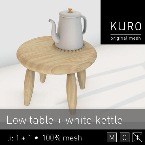 Kuro - table kettle - Lazy Sunday