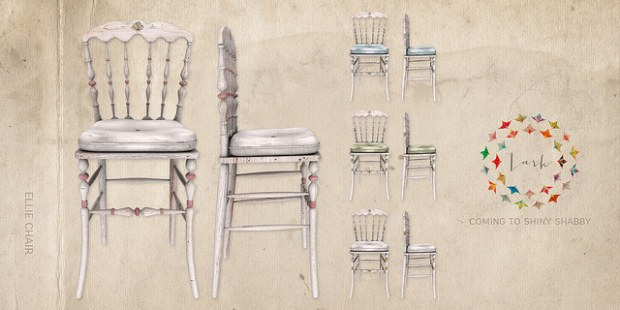 Lark - Ellie Chair - Shiny Shabby