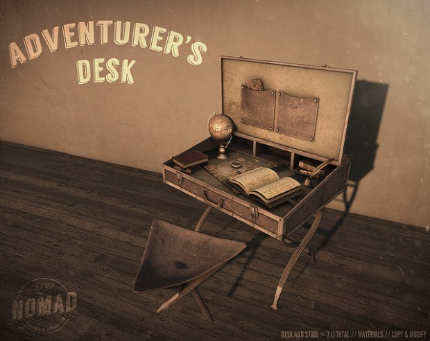 Nomad - Adventurers Desk - we love roleplay