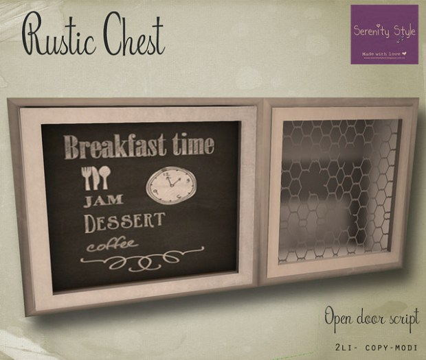 Serenity Style - rustic chest - zh market