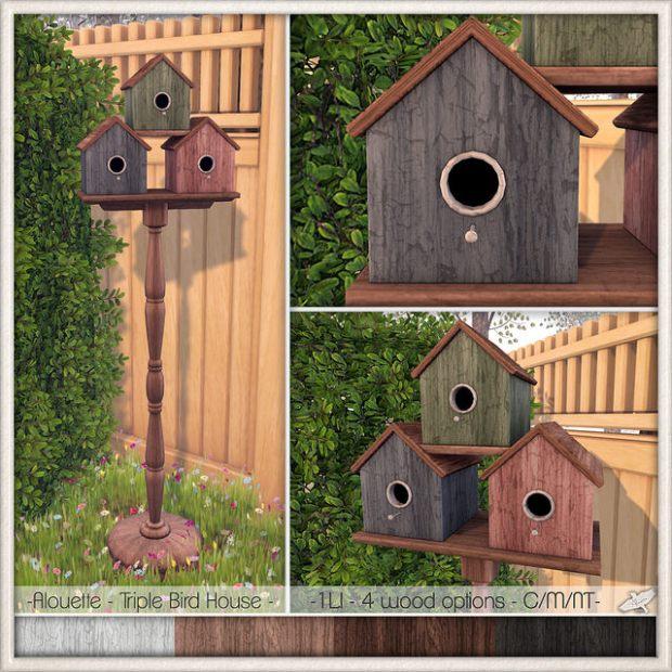Alouette - Triple Bird House - Lazy Sunday