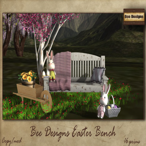bee designs easter bench - cosmo