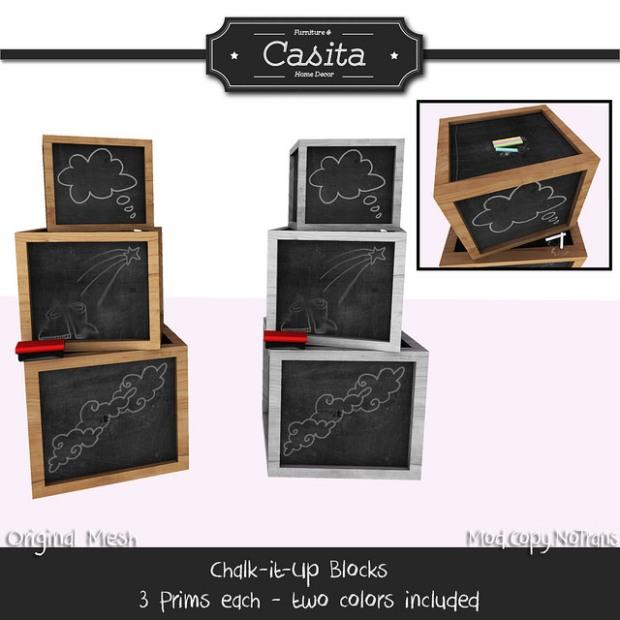 Casita - chalk it up blocks - ltd 50