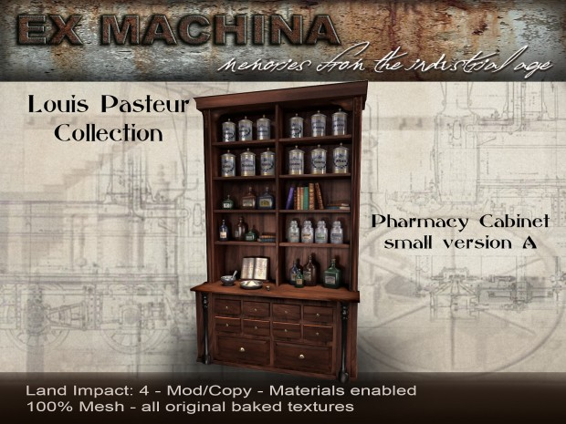 Ex Machina - Pasteur pharmacy cabinet A - Cosmo