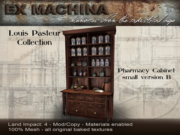 Ex Machina - Pasteur pharmacy cabinet B - Cosmo